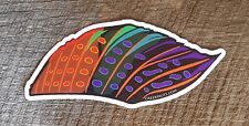 """GRAYLING Sticker Decal fly fishing 5 1/2"""" x 2 1/2"""" glossy weather proof"""