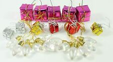 Mini Lights & Presents Multicolor Christmas Ornament Holiday Decoration Lot