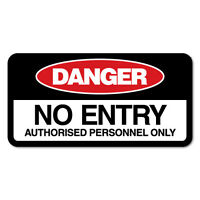 No Entry Sticker Decal Safety Sign Car Vinyl #7655NM