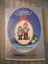 "Vtg 1986 Paragon Needlecraft Christmas Collection ""Carolers"" Cross Stitch Kit"