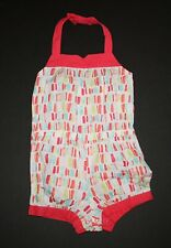 New Gymboree Butterfly Catcher Line Brushstroke Print Romper Size 6-12 M NWT