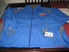 MENS MAJESTIC NBA STORE NEW YORK KNICKS SOFT SHELL JACKET 5XL BLUE NWT $120