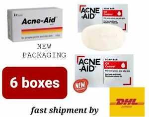 6x Acne-Aid Soap Bar Stiefel Pimple Prone Oily Acne Skin 100g - fast ship by DHL