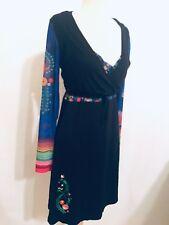 40500ea3bc7 2pc Set Black Anatopik Bella Dress   Brian Bolero Cardigan Wrap Bird Floral  ...
