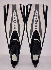 AQUALUNG EXPRESS TECHNISUB Black/White SCUBA  6/7 Full Foot Fins
