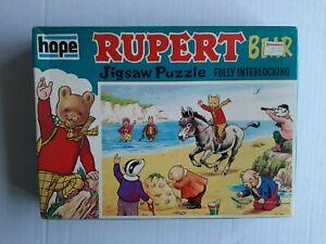 """Rupert the Bear 80pc jigsaw, original 1970s, good condition, 9"""" X 13"""""""