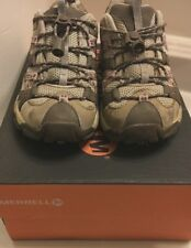 Merrell Siren Sport Girls Junior Athletic Shoes Size 1.5 Brown/Pink with Box