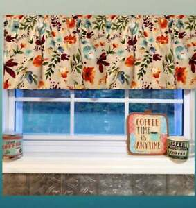 """Farmhouse, Willow, Pioneer Woman Curtain Valance 40""""W x15""""L, Country"""