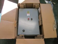 Square D Enclosed Starter 8536SGC3V81CFF4P21TX22 Size 1 120V Coil New Surplus