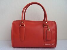 Coach NWT 17995 Madison Classic Leather Satchel Vermillion