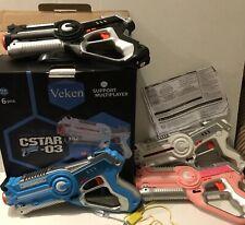 Veken Infrared Countermeasure Laser Tag Toy Guns, 4 Pack