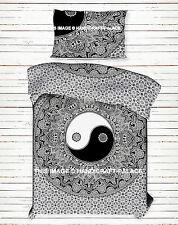 Indian Yin Yang Mandala Bedding Set Cotton Quilt Duvet Doona Blanket Cover Throw