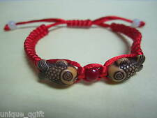 handmade Carp Fish Baby Child Red String Bracelet _ good health & luck Ca un106