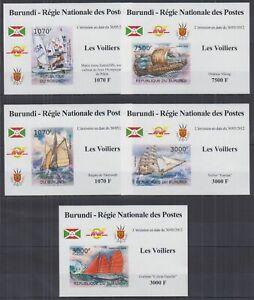 L838. Burundi - MNH - Transport - Ships - Deluxe - Imperf