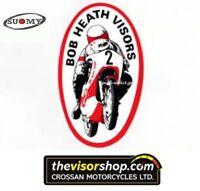 Bob Heath Motorcycle Helmet Visor BHV569a - SUOMY Superbike/Vandal/SR- CLEAR