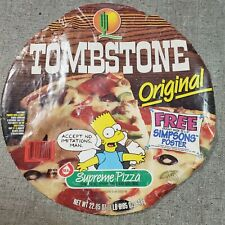 Vintage The Simpsons Bart Simpson Super Rare HTF Tombstone Pizza Wrapper 1994