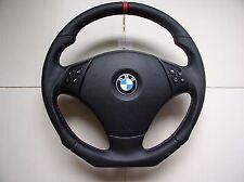 BMW E90 E91 E84 NEW NAPPA LEATHER ERGONOMIC INLAYS STEERING WHEEL FLAT BOTTOM