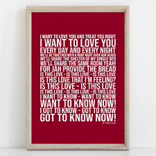 More details for bob marley is this love song lyrics poster print wall art