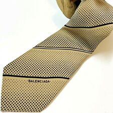 BALENCIAGA Authentic Retro Vintage Men's Tie, Neck Tie 100% Silk Italian-Made