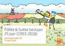 """POSTZEGELMAPJE M575 - 575 """"FOKKE & SUKKE 25 JAAR  2018"""""""