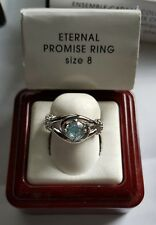 Avon Silver Eternal Promise Cubic Zirconia Engagement Ring Sz 8 New never worn