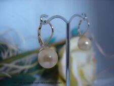 Perlen-Ohrschmuck im Hänger-Stil mit echten Perlmutt für Damen
