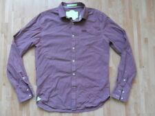 Superdry men's shirt size L long sleeve purple cotton