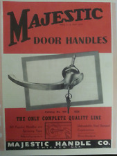 1920s to 1939 Majestic ILLUSTRATED IDENTIFICATION Door Handle Catalog