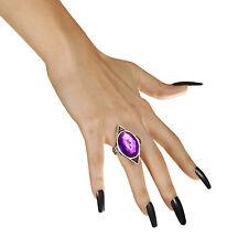Gotischer Ring mit violettem Edelstein lila Wahrsagerin Hexe Fasching Schmuck