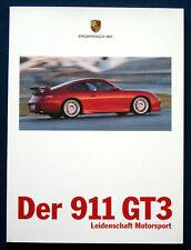 Prospekt brochure Porsche 911 GT3 (D, 1999)