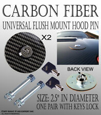 ICBEAMER Racing Round Carbon Fiber Mount Round Hood Latch Pin Key Locking F16