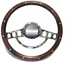 1977 1978 1979 Chevy C-Series Suburban Blazer Chrome & Wood Steering Wheel Kit