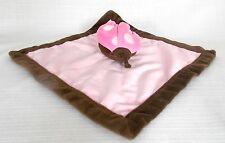 Tiddliwinks Ladybug Pink & Brown Plush Lovey Baby Girl Security Blanket