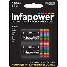 Infapower Recargable C tamaño C Ni-mh Multi Uso Baterías 1.2 V 2600mah 2 Pack
