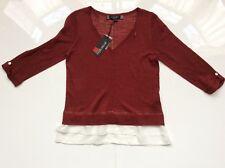 Ladies Rust Principles Long Sleeves Top Size: 8