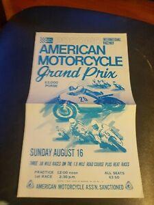 August 1969 Pocono International Raceway American Motorcycle Grand Prix Poster