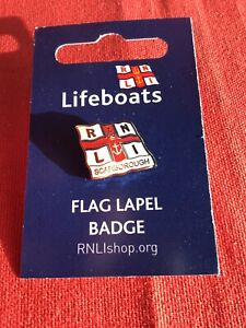 RNLI Scarborough Lifeboat Station Flag Lapel Pin Badge