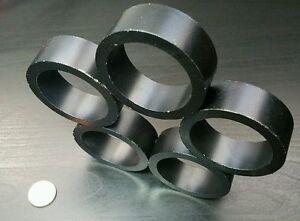 "1 Huge Neodymium N40 Ring Magnet Strong Rare Earth  2"" x 3/4"" DIAMETRIC Poles"