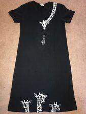 IF Vintage Womens Dress Black With White Giraffe Size Small
