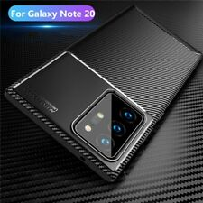 For Samsung Galaxy Note 20 Ultra Case Carbon Fiber Soft Cover + Screen Protector
