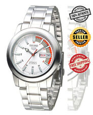 Seiko 5 Automatic SNKK25 SNKK25K1 Men Day Date White Dial Stainless Steel Watch