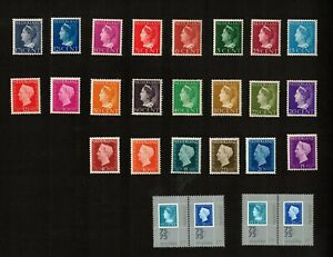 Netherlands Mixed Lot of Stamps and Pairs Hinged