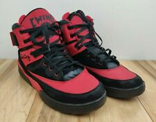 Patrick Ewing Size 13 Basketball Athletic Sneakers Shoes Black Red - Distressed