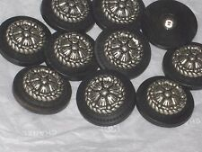 CHANEL 10 BUTTONS  WOODSY BLACK ,  SILVER  CC LOGO 22 MM  NEW LOT 10 DALLAS