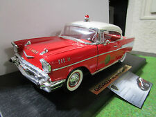 CHEVROLET BEL AIR FIRE CHIEF Pompier 1957 1/18 d YATMING 92106 voiture miniature
