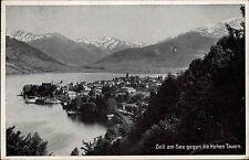 Zell am See Salzburg Österreich s/w AK 1942 gelaufen Panorama gegen Hohe Tauern