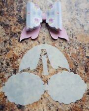 Beautiful Scalloped Drop Tail Hairbow Template- Make Your Own Bows