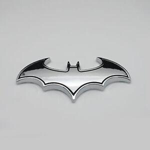 Chrome Metal Badge Emblem Batman 3D Tail Decal Auto Car Logo Sticker Accessories