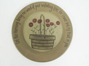 """Donna White Hearthside Collection Plate Folk Art Country Basket Love 11.5"""""""