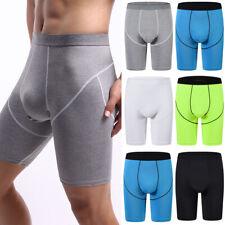 Men Boxer Briefs Shorts Long Leg Sport Underwear Sexy Silky Soft Underpants Lot